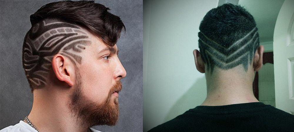 Мужские причёски с рисунком