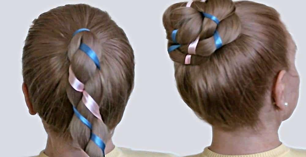 Детские прически на средние волосы на каждый день