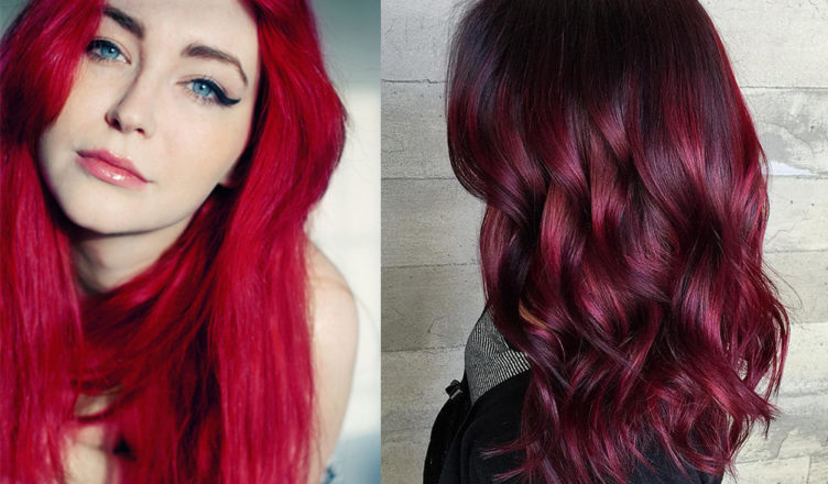 Dark Red Hair Color For Warm And Cool Skin Tones Of Cool