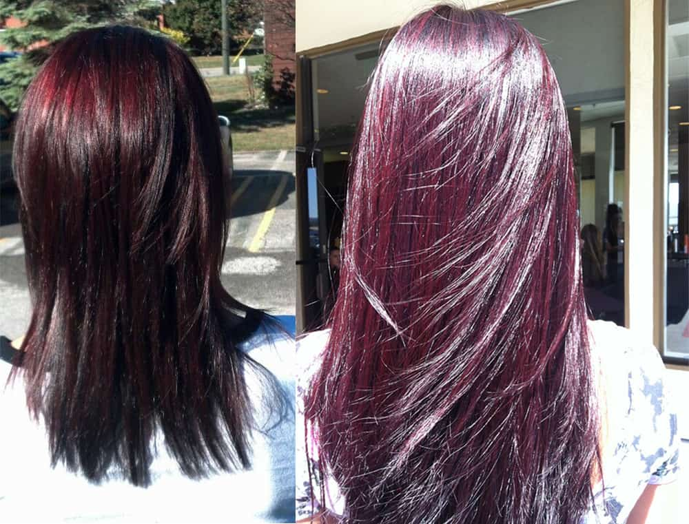 Black-cherry-hair-hair-color-2017-hair-trends-2017-dark-hair-ideas-Black cherry hair