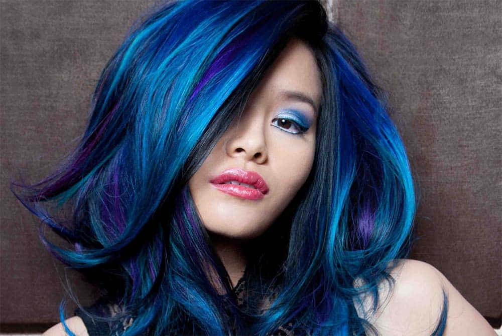 blue hair color styles blue black hair color ideas 2016 haircuts hairstyles 2017 2687