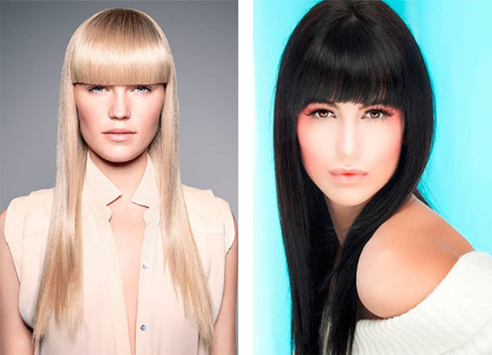 Women Haircuts 2017 Straight Bangs
