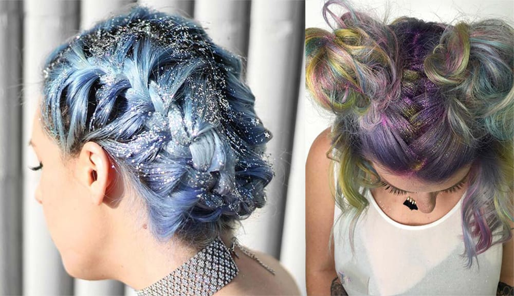 Glitter-roots-womens-hairstyles-2017-hair-trends-2017-latest-hairstyles-Glitter roots