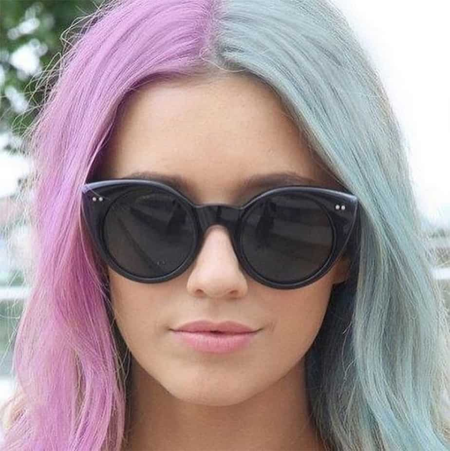 2017 Hair Trends Split Hair Color For You