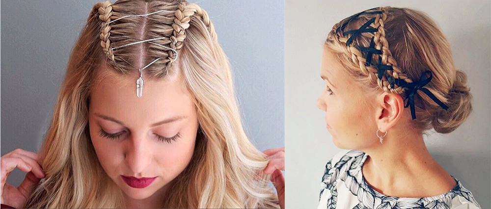 Side-and-top-corset-braids-cool-hair-ideas-Womens hairstyles 2018
