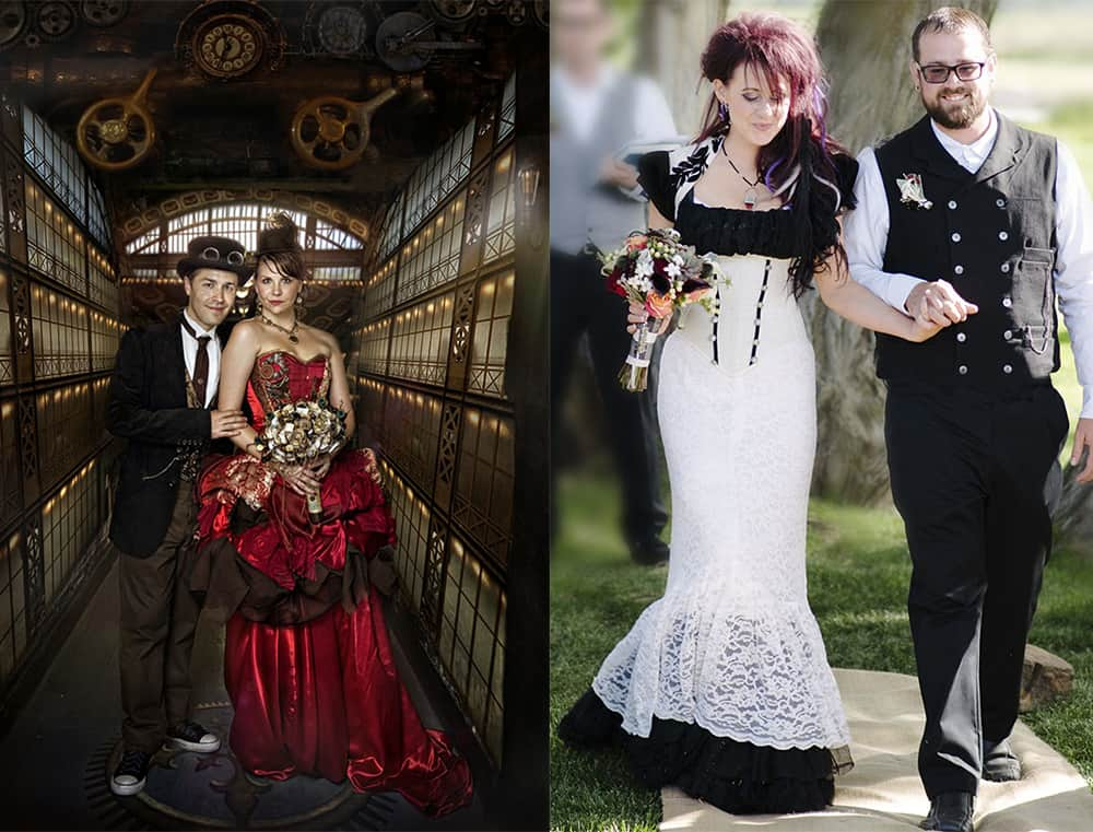 Wedding hairstyles 2017: Steampunk hairstyles