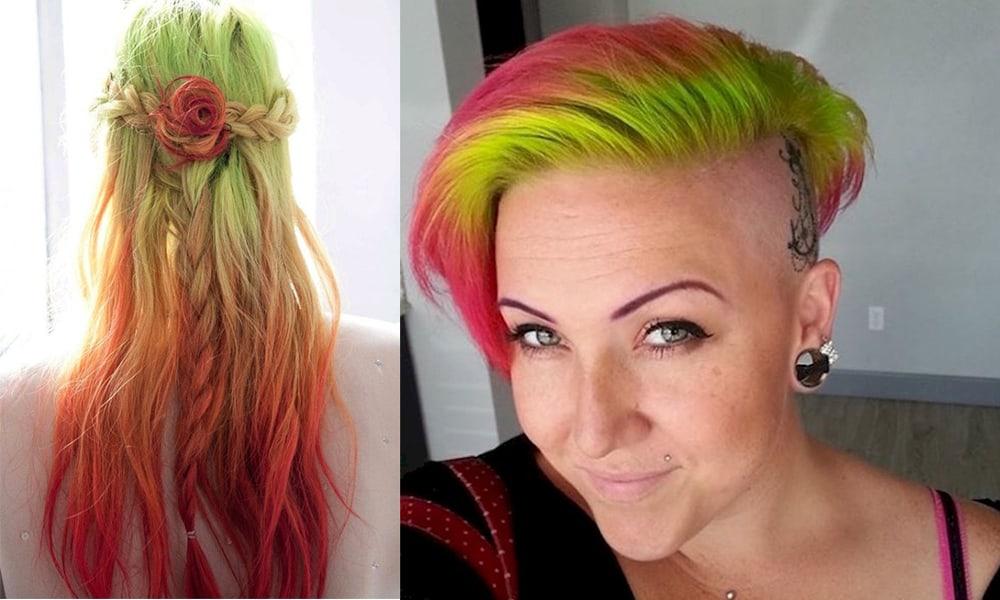 Autumn-color-type-watermelon-hair-Watermelon hair-hair coloring ideas