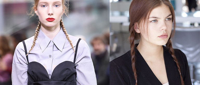 Braided-pigtails-women's-long-hairstyles-cool-hair-ideas