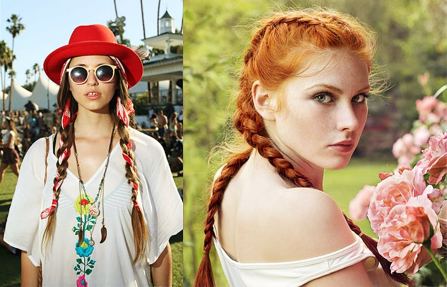 Braided-pigtails-women's-long-hairstyles-cool-hair-ideas-for-any-event-Braided pigtails-cool hair ideas