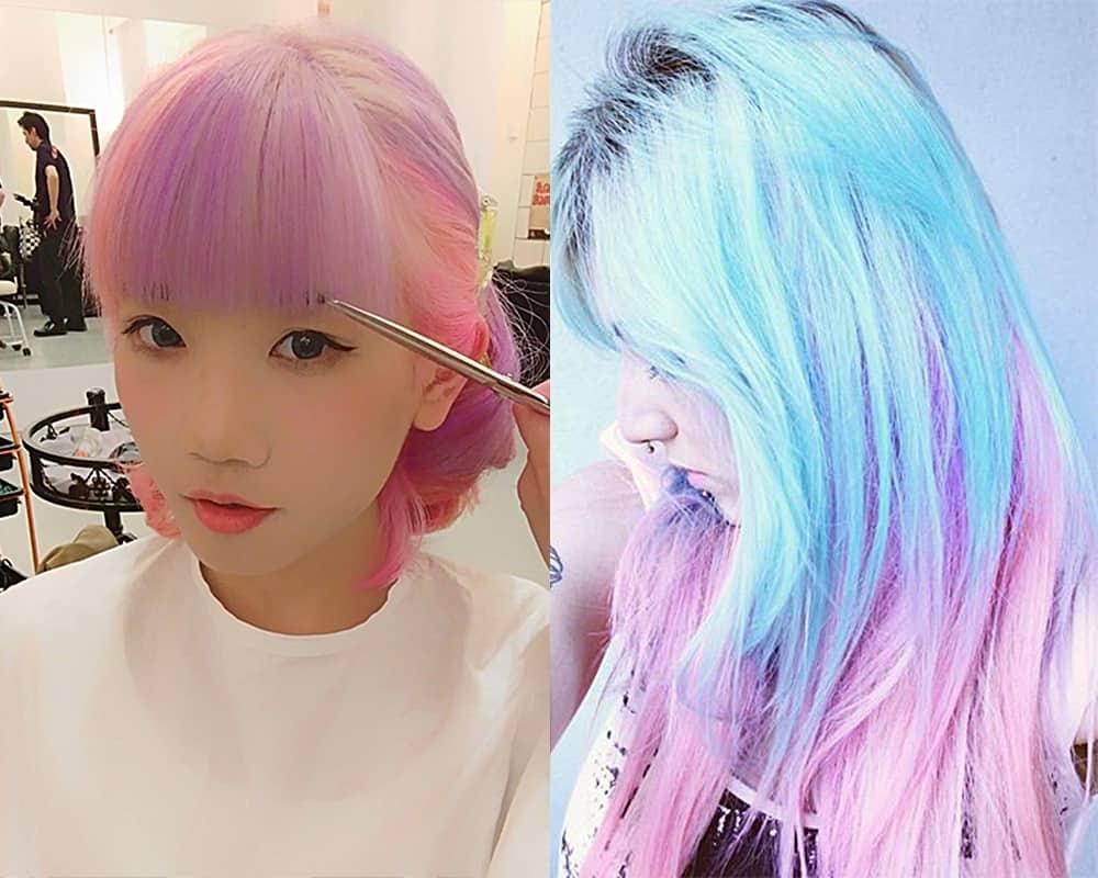 Bubblegum-hair-Light-hair-colors-trending-hair-colors-hair-coloring-ideas