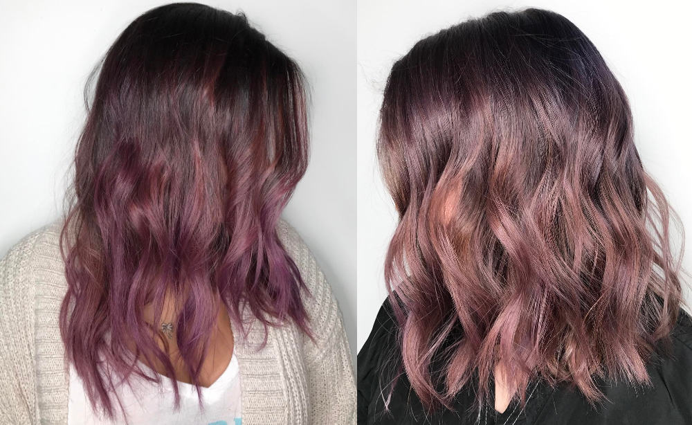 Chocolate-mauve-fantasy-hair-color-Chocolate mauve hair-hair coloring ideas-fantasy hair color
