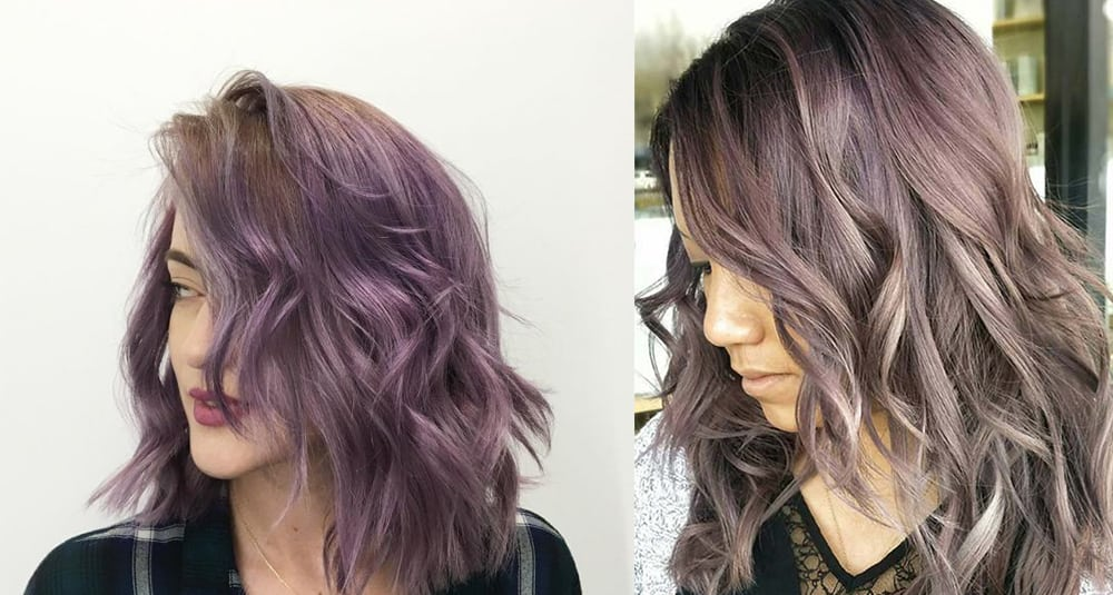 Chocolate-mauve-hair-cold-color-type-Chocolate mauve hair-hair coloring ideas-fantasy hair color