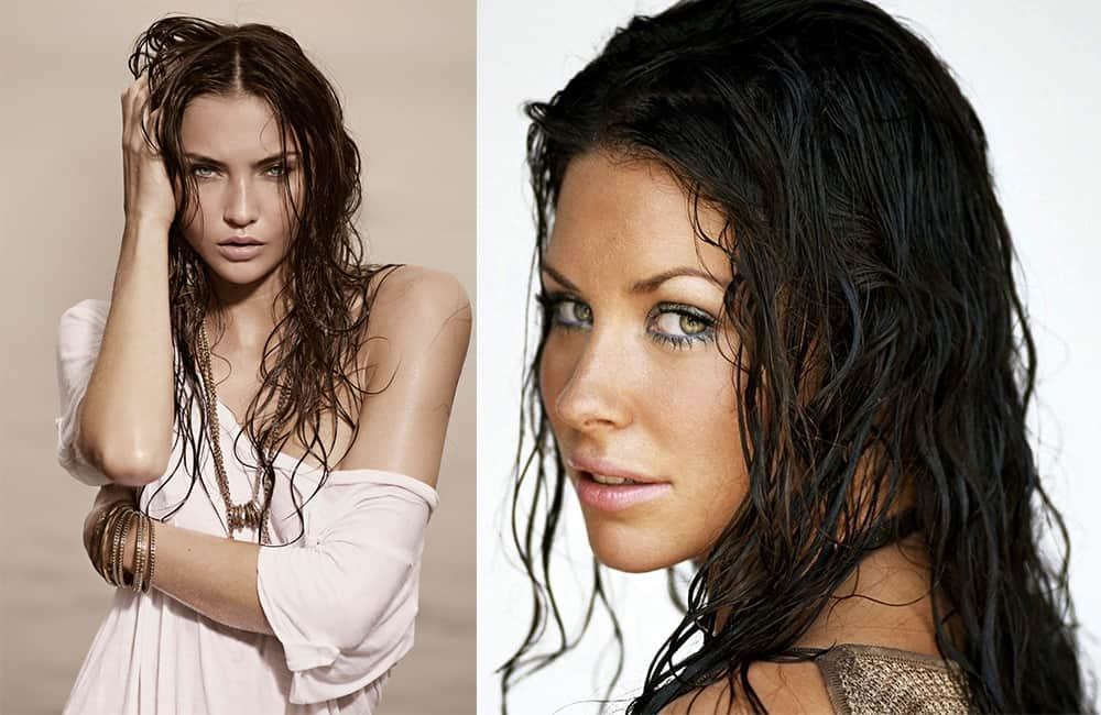 Curly-Wet-look-hair-new-hair-trends-easy-hair-ideas-Easy hair ideas-Wet look hair