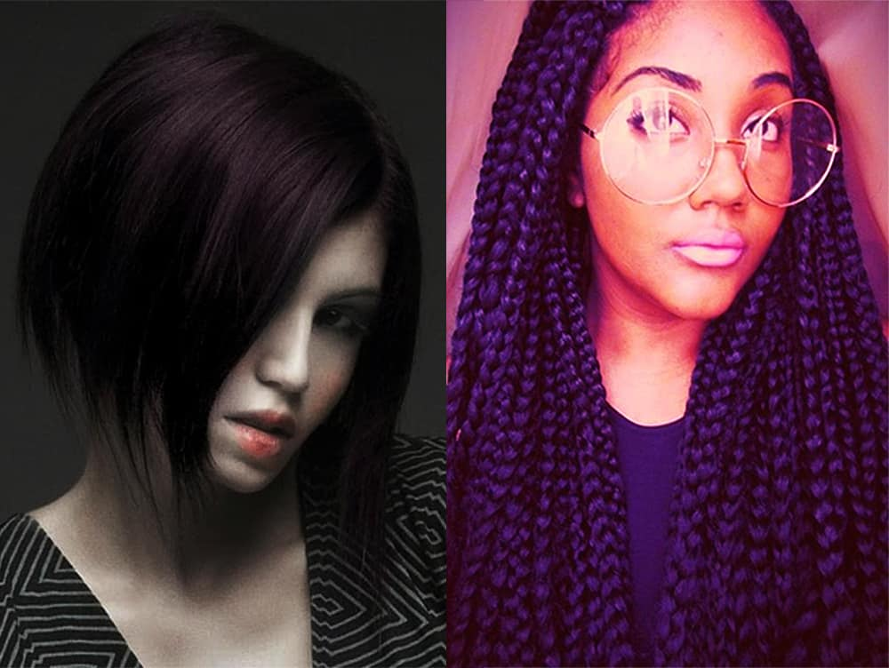 Dark-purple-dark-hair-ideas-fantasy hair color-dark purple hair