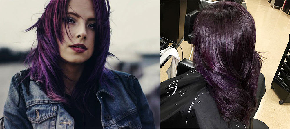 Stylish Upgrade Mysterious Dark Purple Hair Cool Haircuts