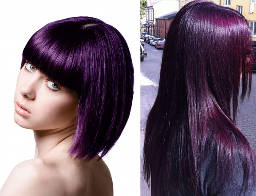Stylish Upgrade Mysterious Dark Purple Hair