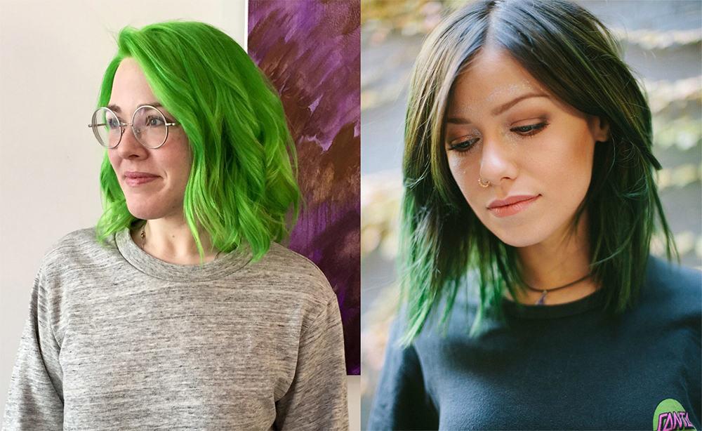Green-hair-color-fantasy-hair-color-colorful-hair-ideas-for-autumns-fantasy hair color