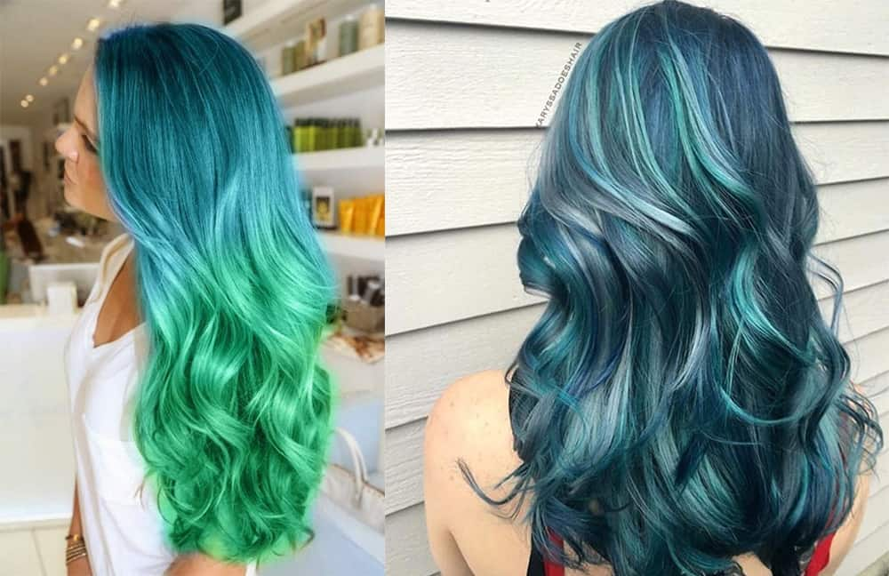 Green-hair-color-fantasy-hair-color-colorful-hair-ideas-ocean-hair-colorful hair ideas