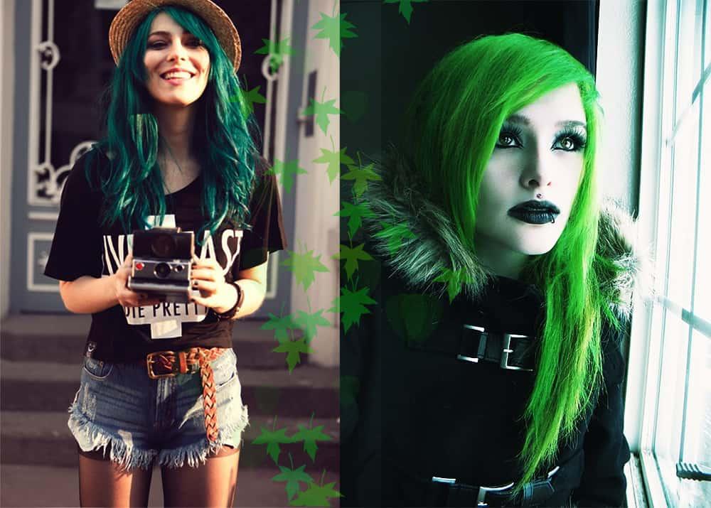 Green-hair-color-fantasy-hair-color-colorful-hair-ideas-Green hair color