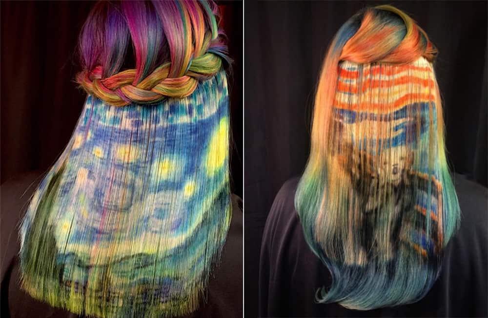 Paintings-on-hair-by-Ursula-Goff-Trending-hair-colors- new-hair-color-trends-hair-dye-tips-Trending hair colors