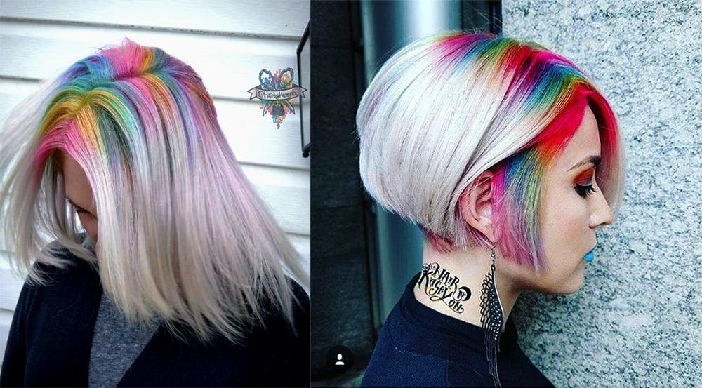 Rainbow-shadow-roots-hair-fantasy-hair-color-hair-coloring-ideas- Fantasy hair color