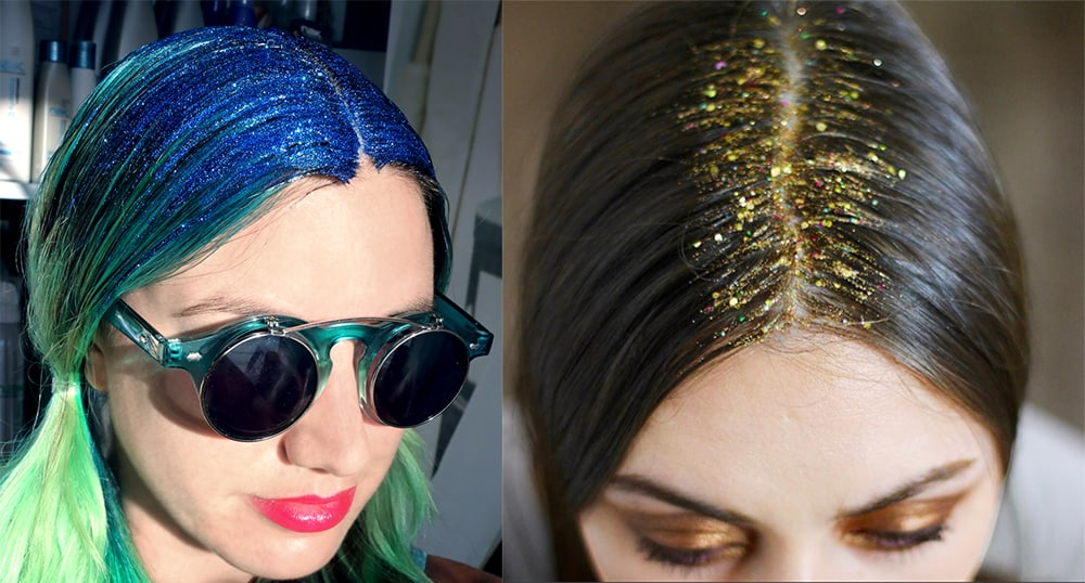 Shadow-roots-hair-fantasy-hair-color-with-glitter-roots- Fantasy hair color-Shadow roots hair