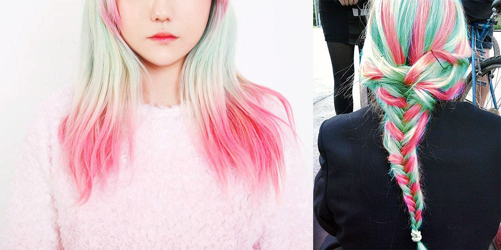 Summer-and-Spring-color-type-Watermelon-hair-Watermelon hair-hair coloring ideas