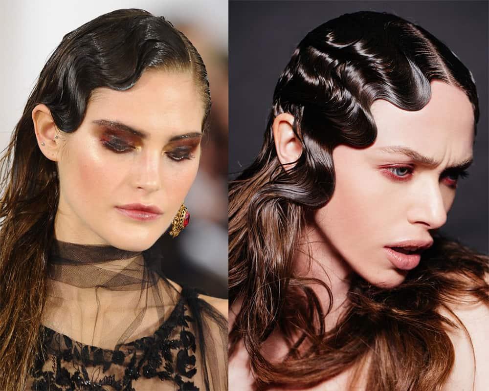 Vintage-Wet-look-hair-new-hair-trends-easy-hair-ideas-New hair trends
