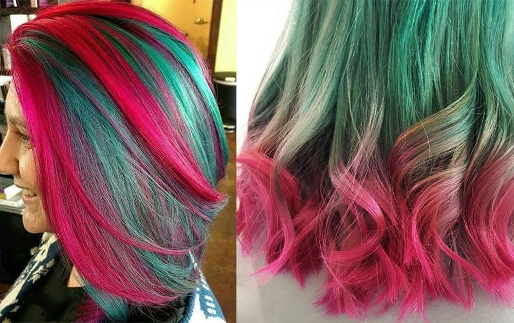 Watermelon-hair-hair-coloring-ideas-hair-dye-tips-Watermelon hair