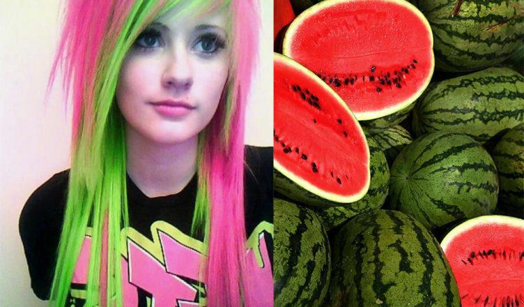 Watermelon-hair-hair-coloring-ideas-hair-dye-tips
