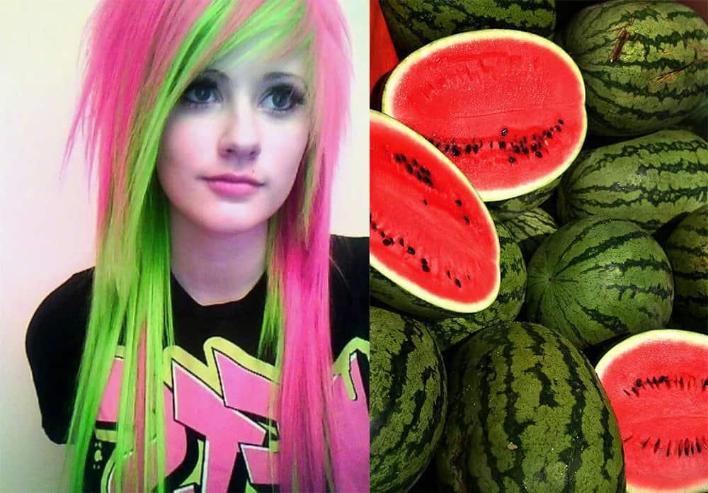 Watermelon-hair-hair-coloring-ideas-hair-dye-tips-hair coloring ideas