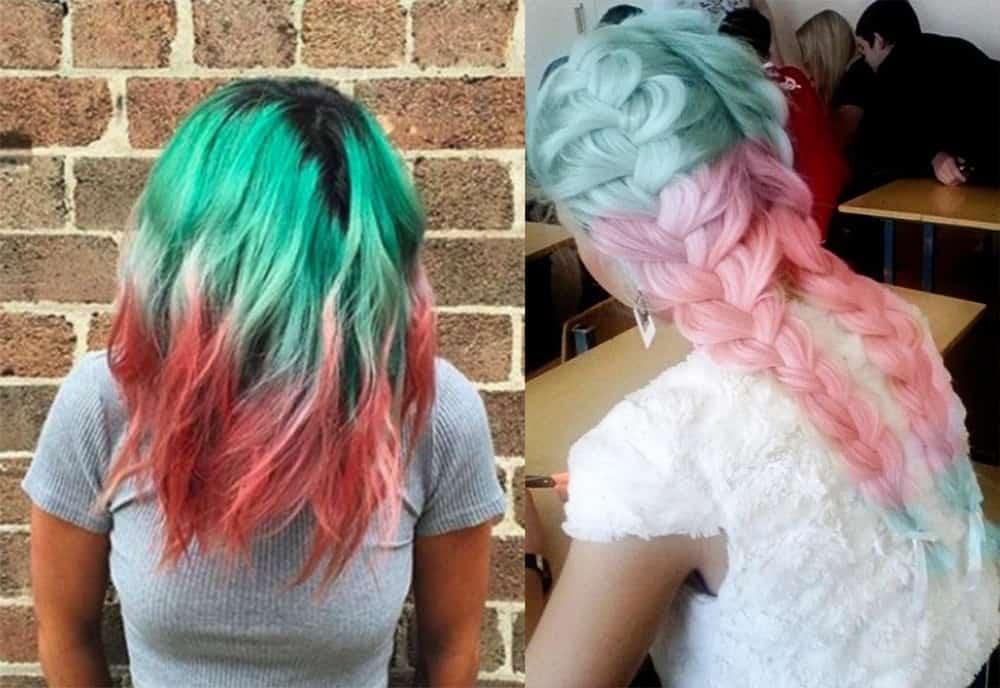 Watermelon-ombre-hair-hair-coloring-ideas-hair-dye-tips-Watermelon hair-hair coloring ideas