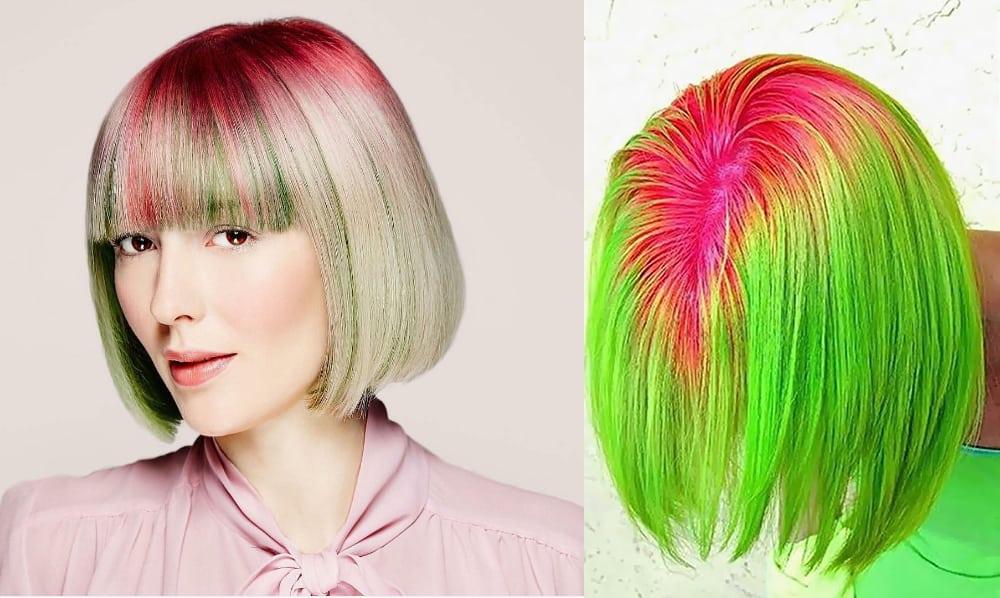 Watermelon-shadow-roots-hair-hair-coloring-ideas-hair-dye-tips-hair dye tips