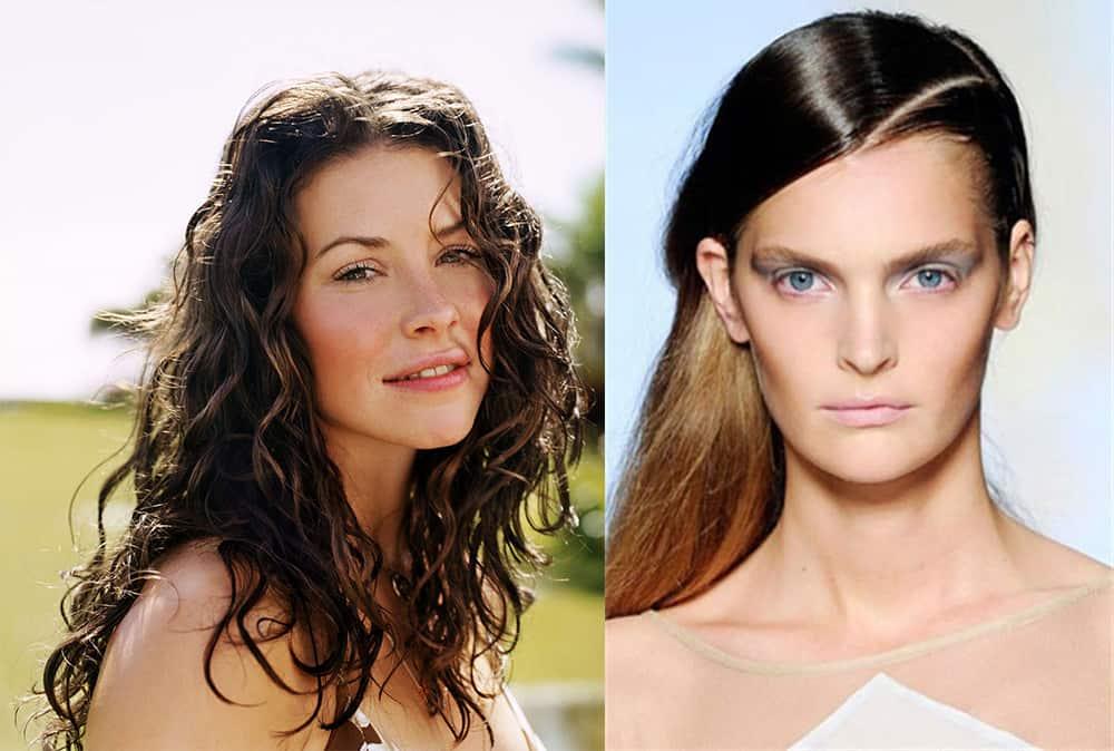 Wet-look-hair-new-hair-trends-easy-hair-ideas-Easy hair ideas-Wet look hair