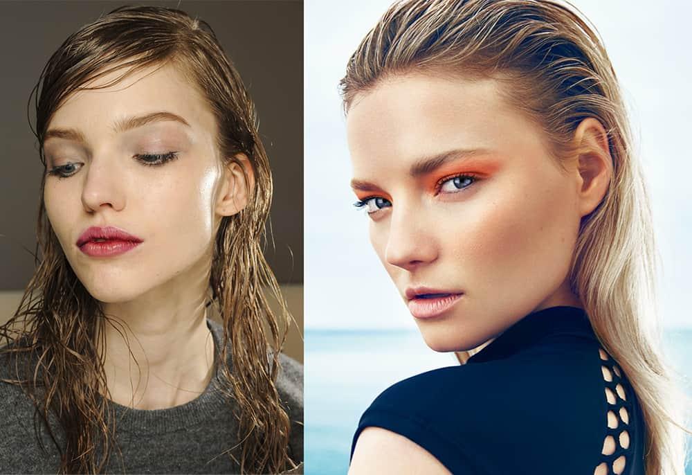 Wet-look-hair-new-hair-trends-easy-hair-ideas-New hair trends