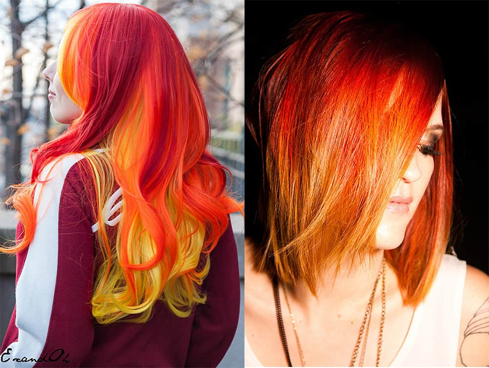 Yellow-hair-color-fiery-hair-colorful-hair-ideas-blonde hair shades-colorful hair ideas