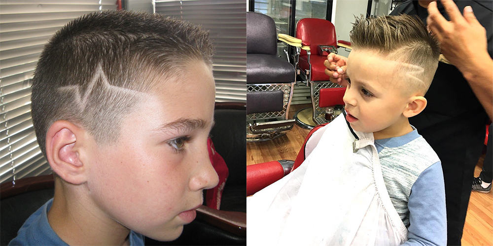 Hair-tattoo-boys trendy haircuts