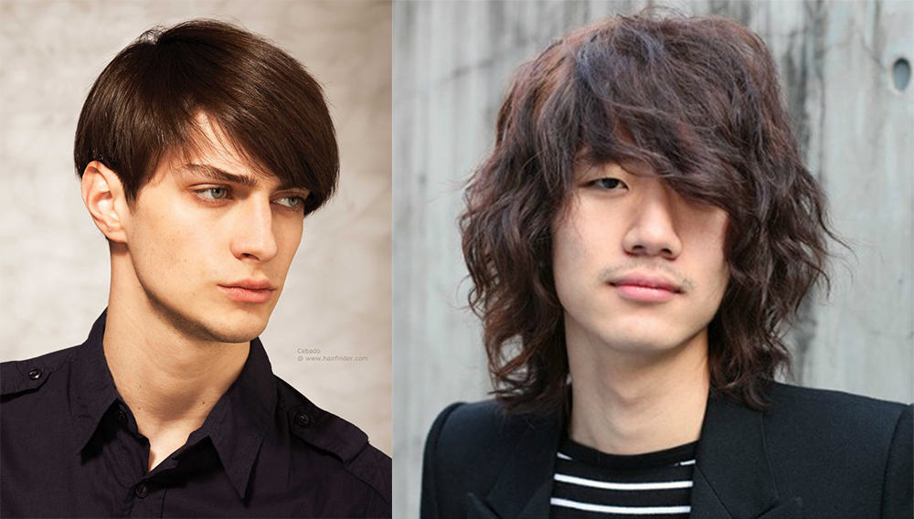 Long-sided-bangs-mens hair trends