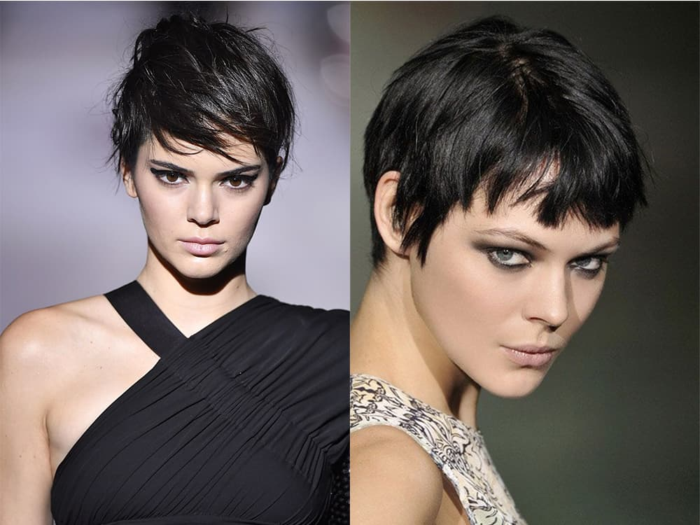 Longer pixie with featheres bangs short haircuts for women