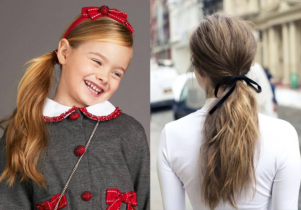 Ribbons-girls hair fashion