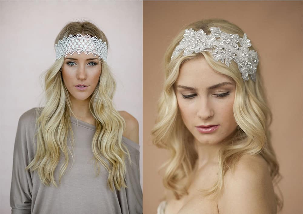 Beautiful lace headbands New Years hair