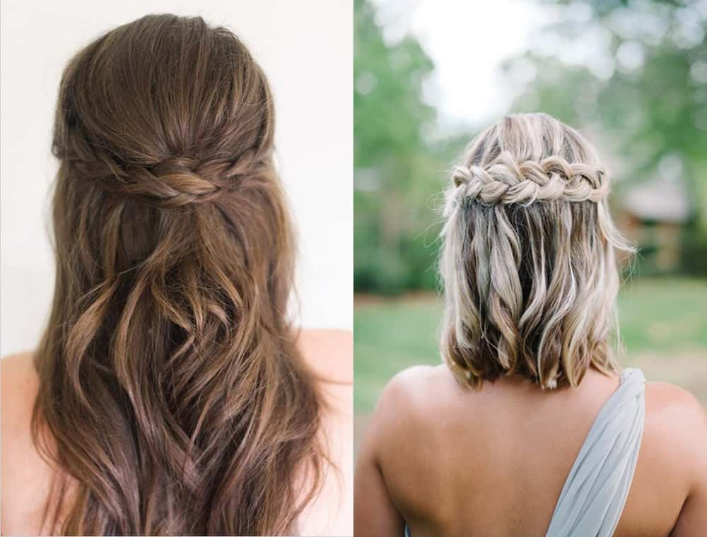 Braided Bridesmaid hairstyles 2018