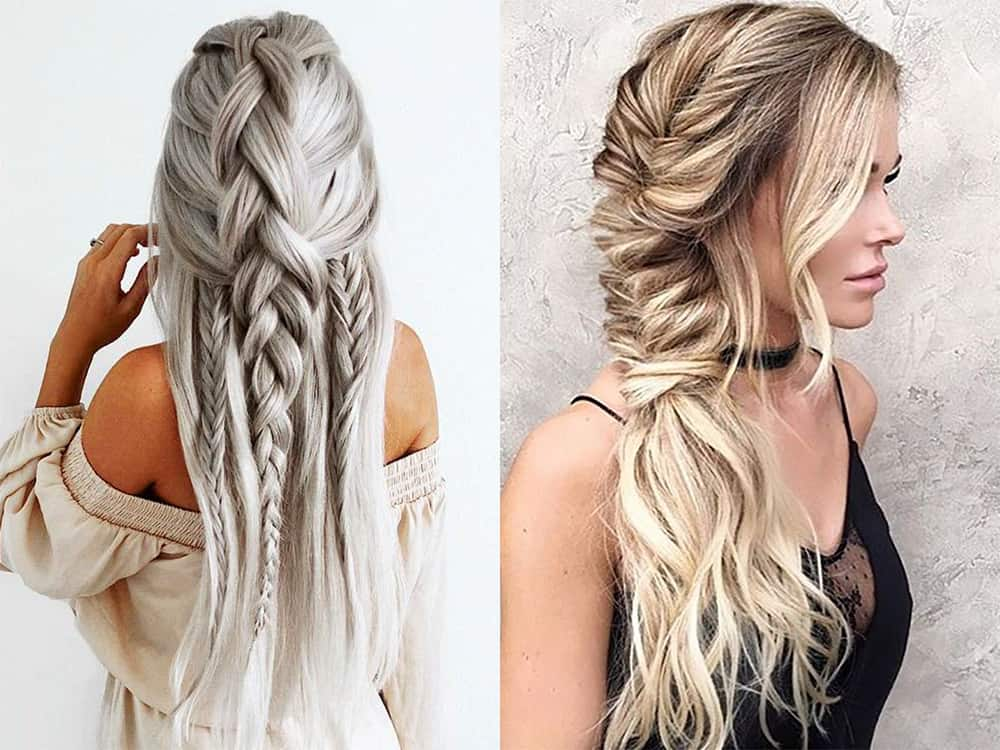 Braids and curls New Year 2018 hairstyles