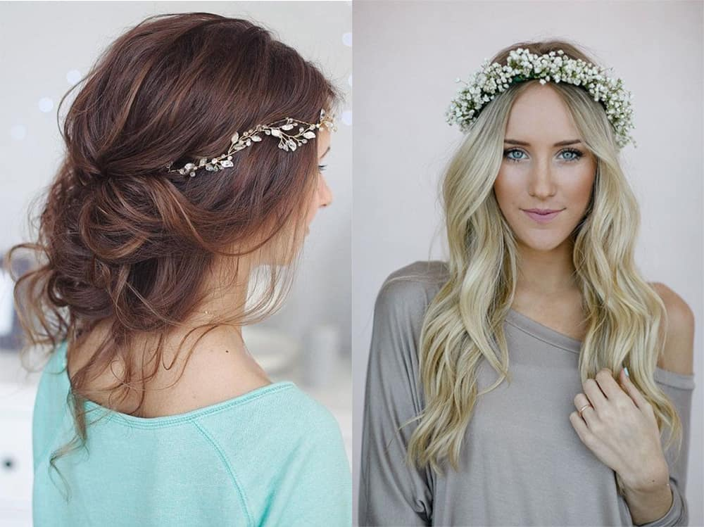 Bridesmaid hairstyles 2018: Inspiration, tendencies, tips and photos
