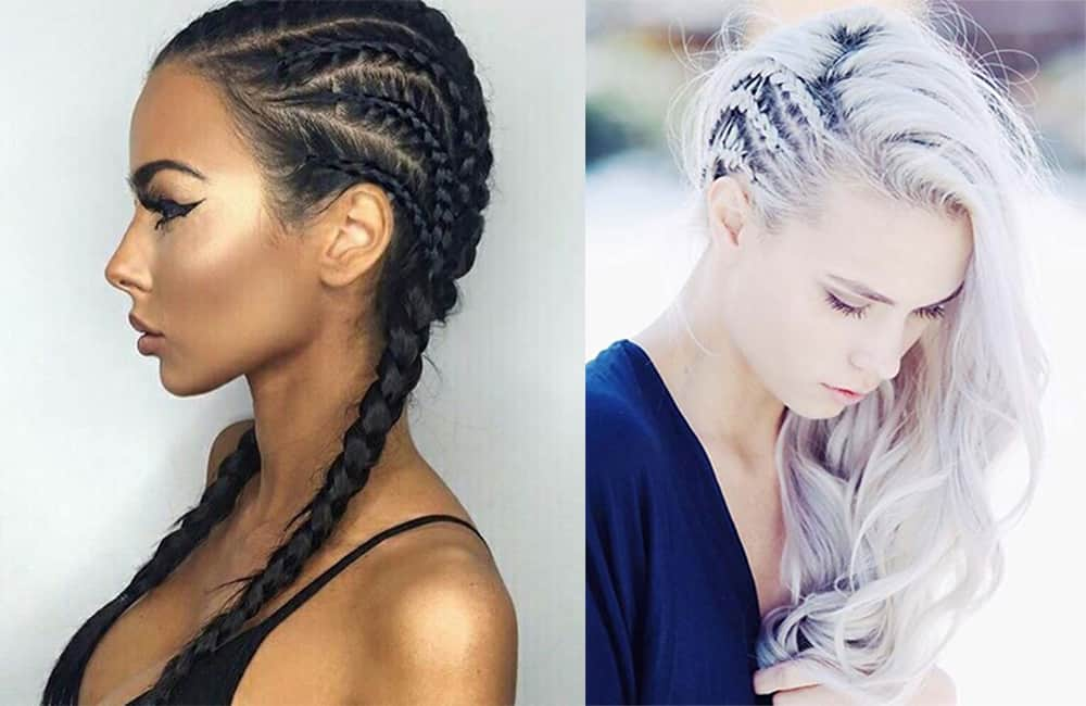 Cool cornrow ideas Braid hairstyles 2018