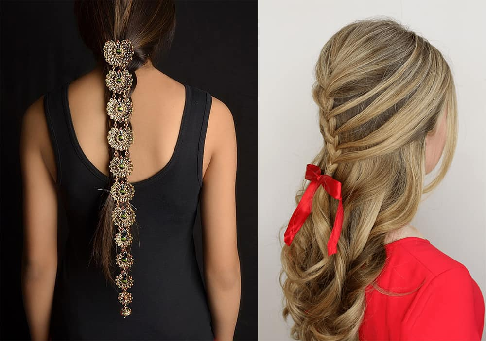 Easy transformation with simple accessories easy braid hairstyles