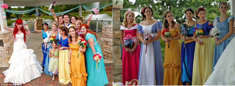Fairytale characters inspired bridesmaid hair ideas