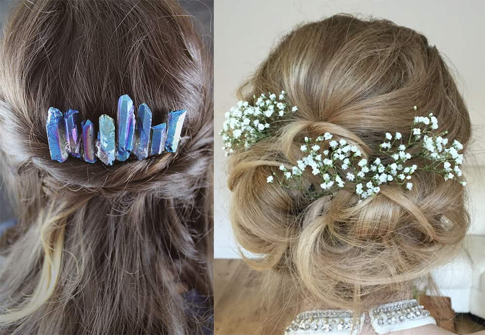Hair combs for bridesmaid hair