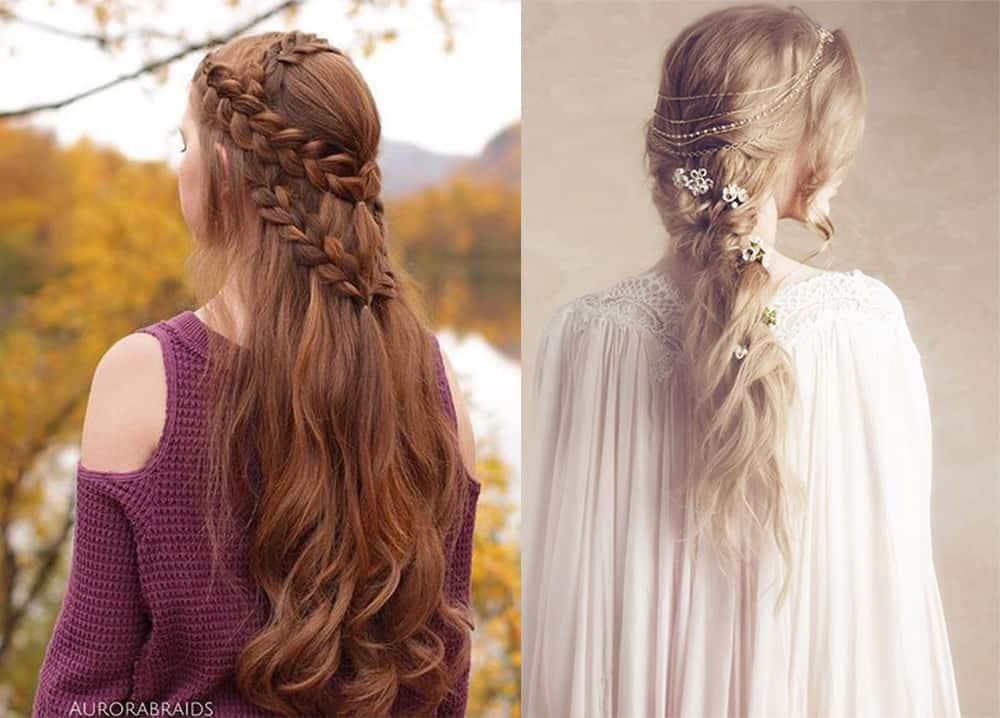 Renaissance braids Valentines hairstyles