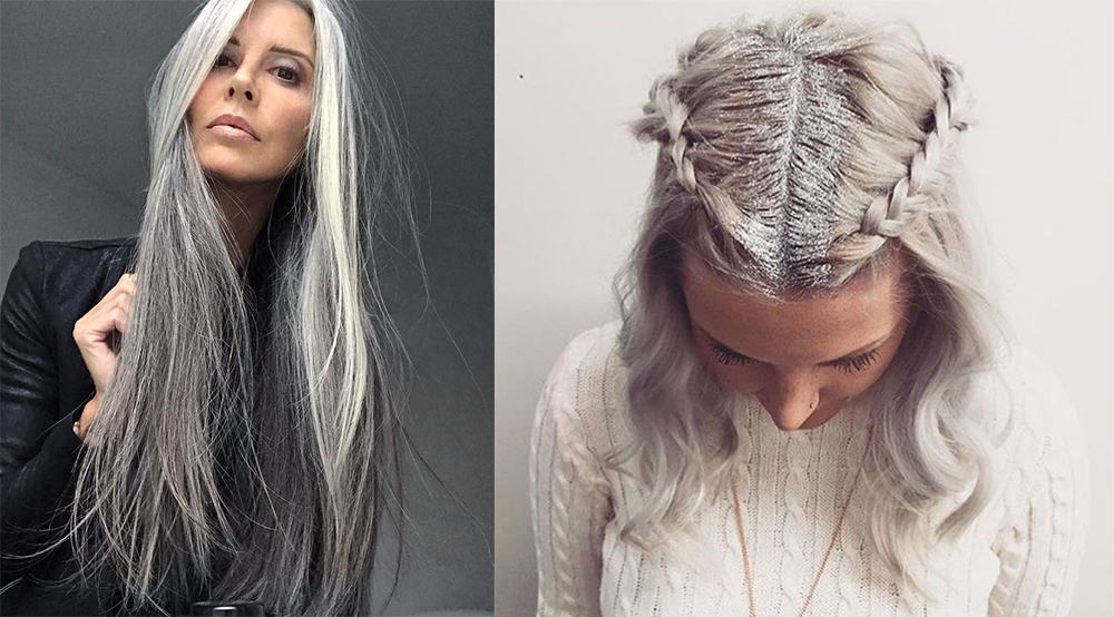 Cool silver hair design cool party hairstyles